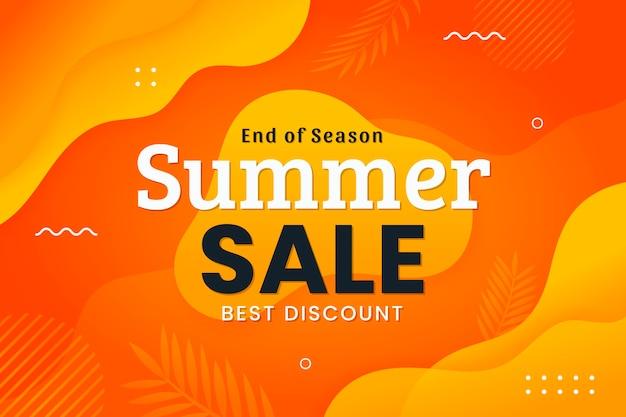 Flat summer sale illustration Free Vector