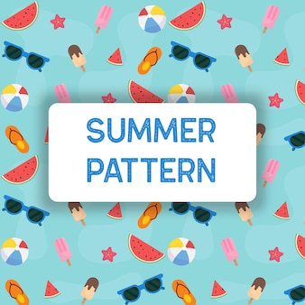 편평한 여름 완벽 한 패턴