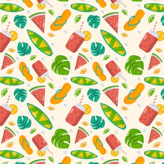 Modello tropicale piatto estivo