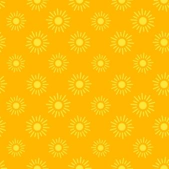 앱 및 웹 사이트 배경에 대한 평면 태양 아이콘 원활한 패턴