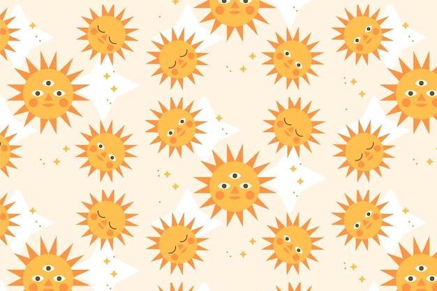평평한 태양 패턴