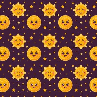Flat sun pattern