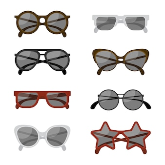 Flat sunglasses collection