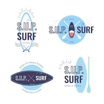 Flat sup badges collection