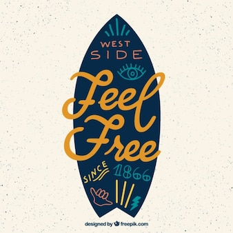 Плоский доски для серфинга с вдохновляющей фразой