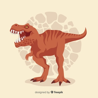 Flat t-rex background