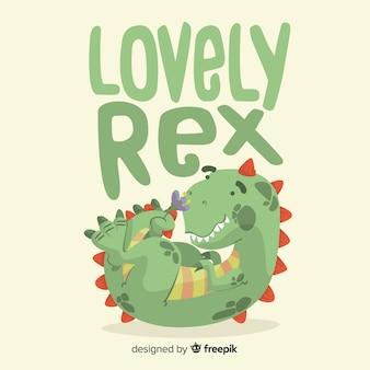 Flat t-rex background