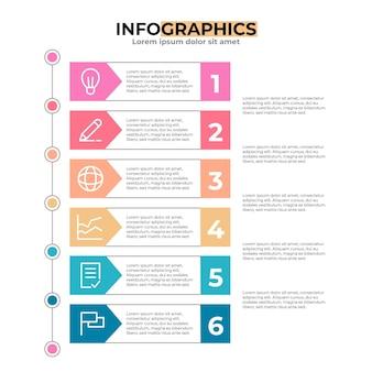 Плоское оглавление инфографики