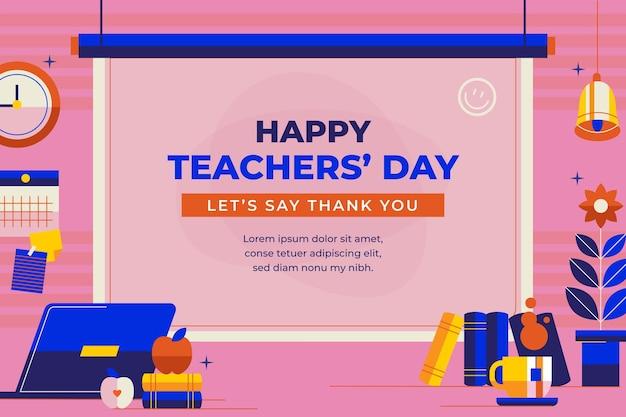 Плоский день учителя фон
