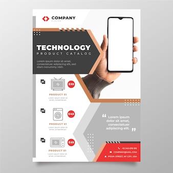 Flat technology product catalog with photo
