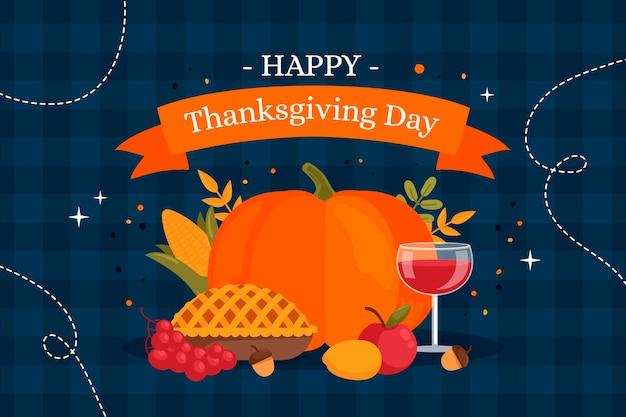 Flat thanksgiving background