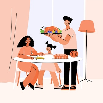 Illustrazione piatta del ringraziamento