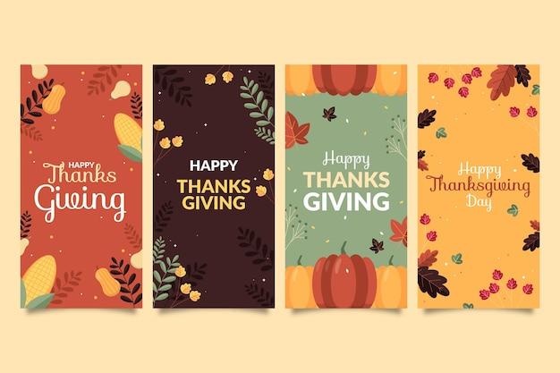 フラット感謝祭のinstagramストーリーコレクション