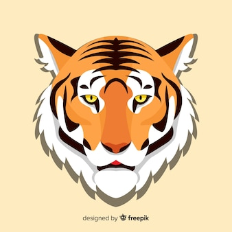 Плоский фон тигра