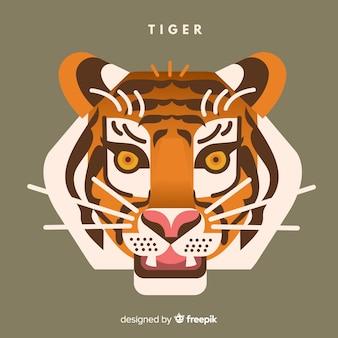Flat tiger background