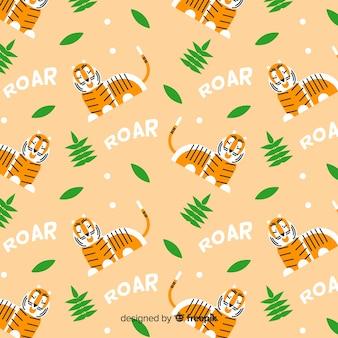 Flat tiger pattern