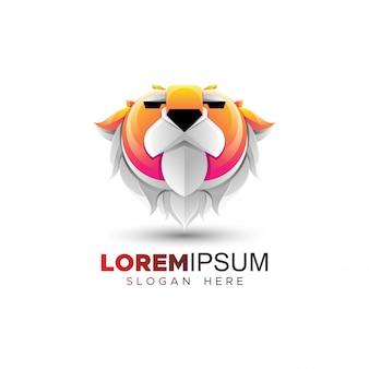 Шаблон логотипа flat tiger