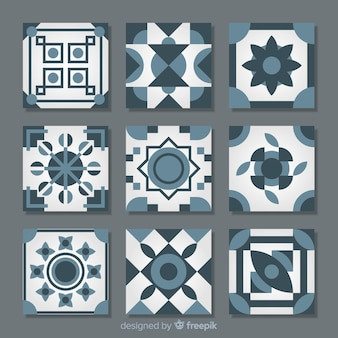 Flat tile collection