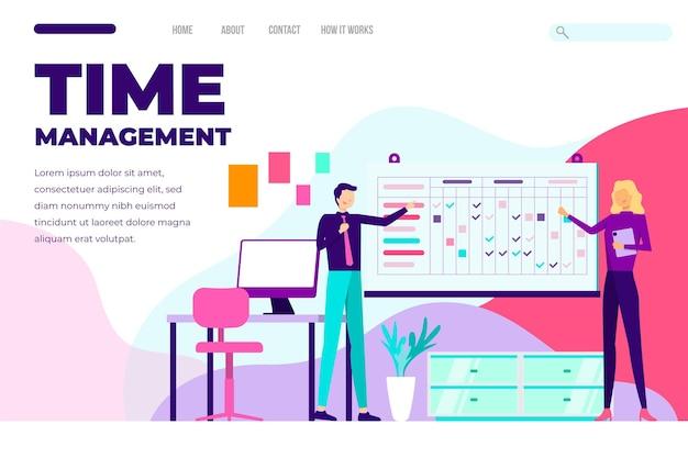 Modello web di gestione del tempo piatto