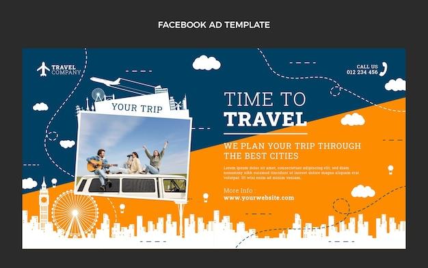 Плоское время для путешествий в фейсбуке