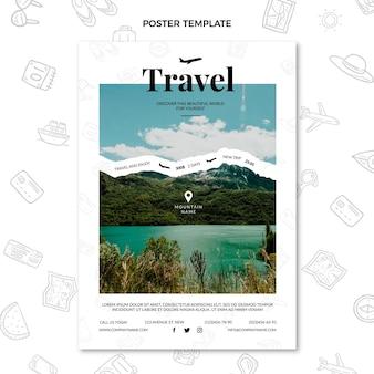 여행 포스터에 플랫 타임