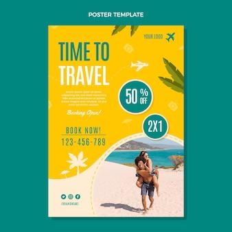 旅行ポスターへのフラット時間
