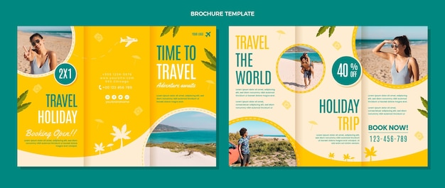 Tempo piatto per viaggiare modello di brochure