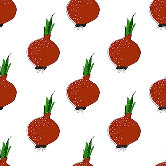 Flat tomato seamless background vector illustration. pattern for healthy lifestyle design. scandinavian style. vegetarian summer backdrop. kitchen art. fresh poster.