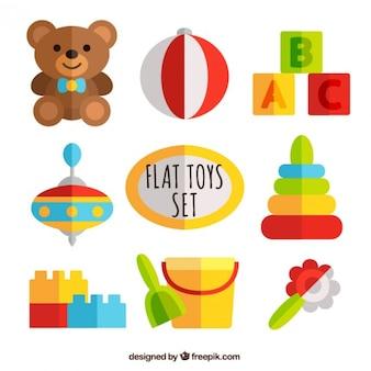 Flat toys set