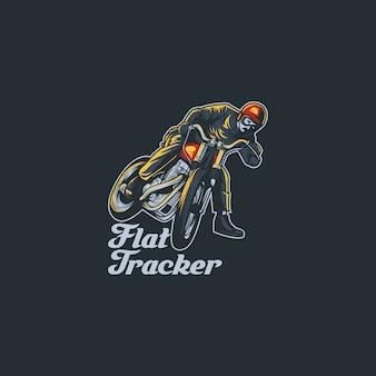 Flat tracker illustration design