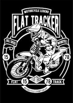 Flat tracker poster