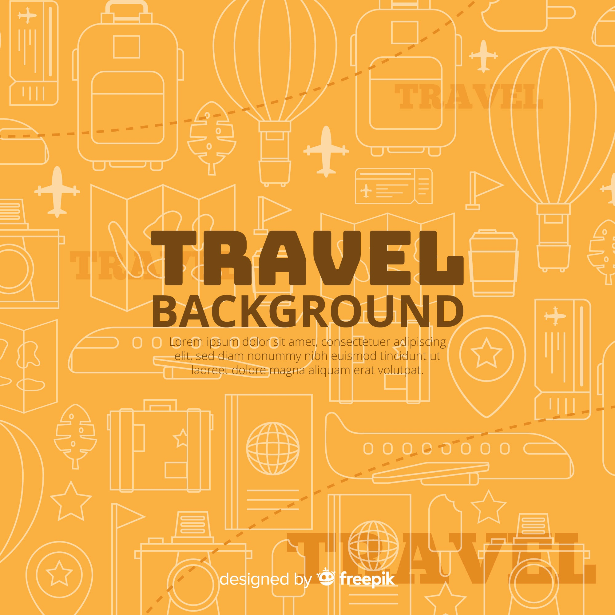 Flat travel background template
