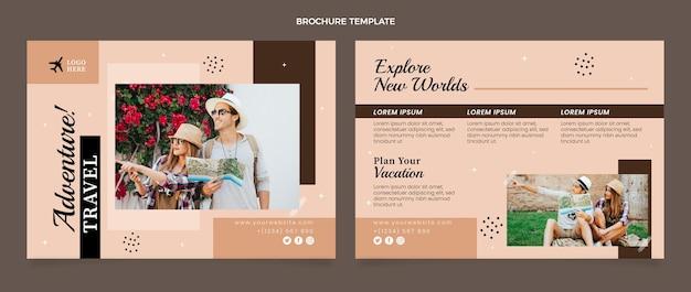 Flat travel brochure template