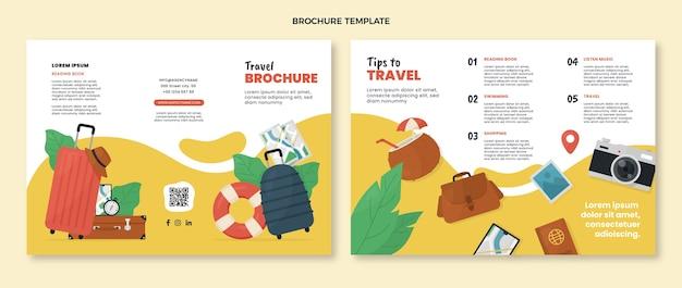 Modello di brochure di viaggio piatto