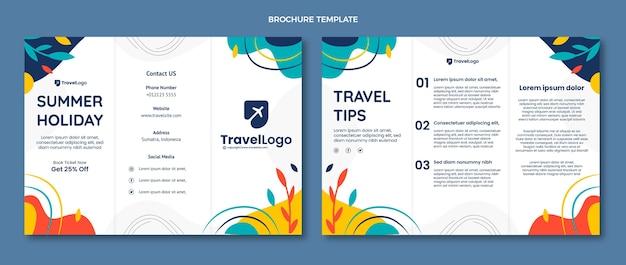 Brochure di viaggio piatto