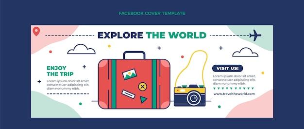 Плоская обложка для путешествий facebook