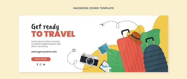 플랫 여행 페이스북 커버