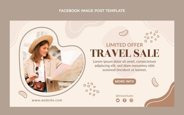 Flat travel facebook post