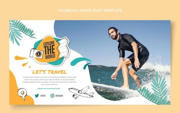 Modello di facebook da viaggio piatto
