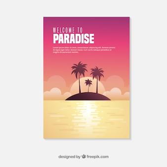 Шаблон флайлера для путешествий с летним стилем