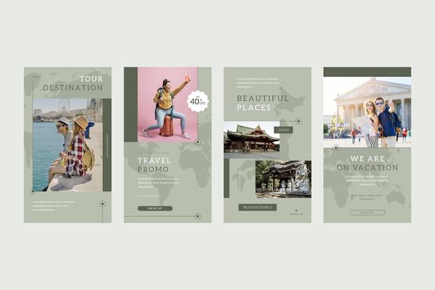 플랫 여행 인스 타 그램 스토리 컬렉션