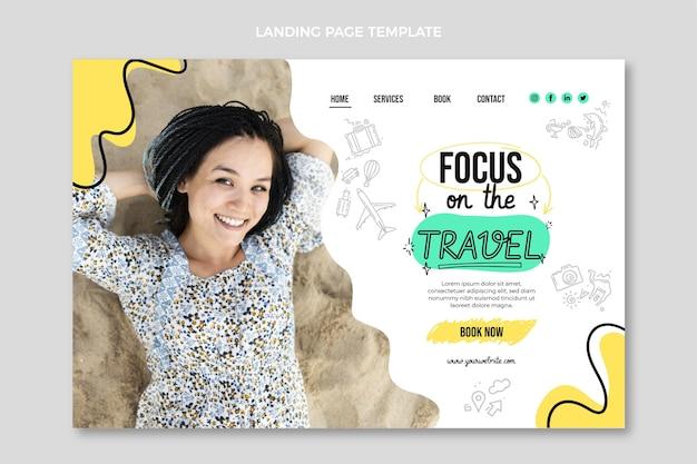 Flat travel landing page template