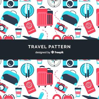 平らな旅行パターン