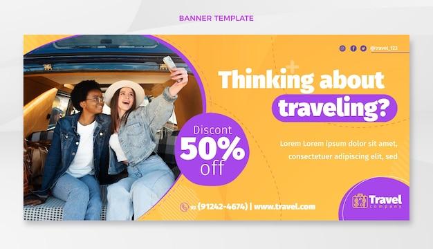 Sfondo di vendita di viaggio piatto