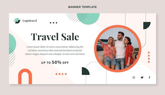 Flat travel sale background