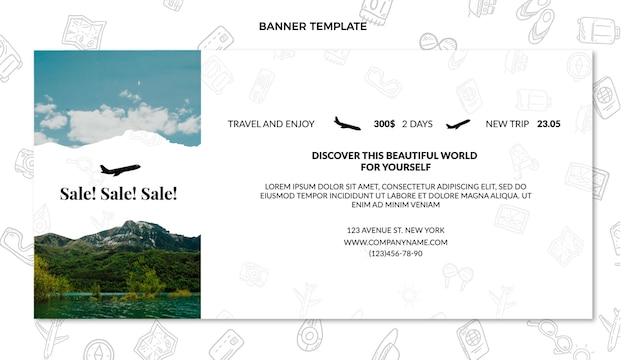 Flat travel sale banner