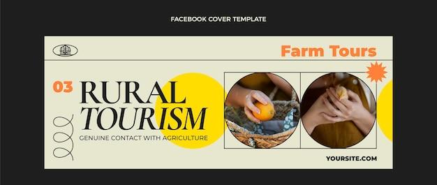 Flat travel social media cover template