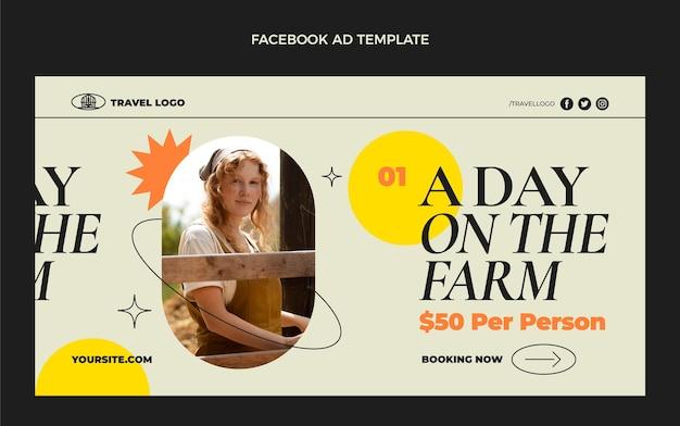 Flat travel social media promo template