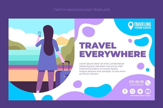 Flat travel twitch background