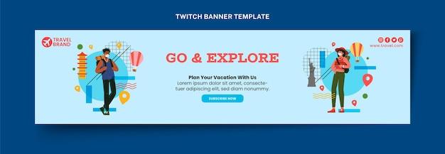 Flat travel twitch banner